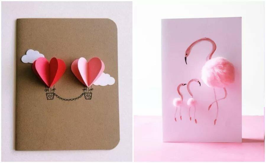 Как сделать очень красивую открытку легко и просто