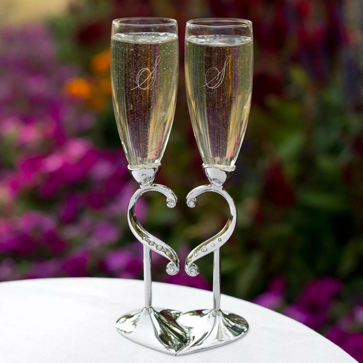 осенними свадьба фото с бокалами после окончания