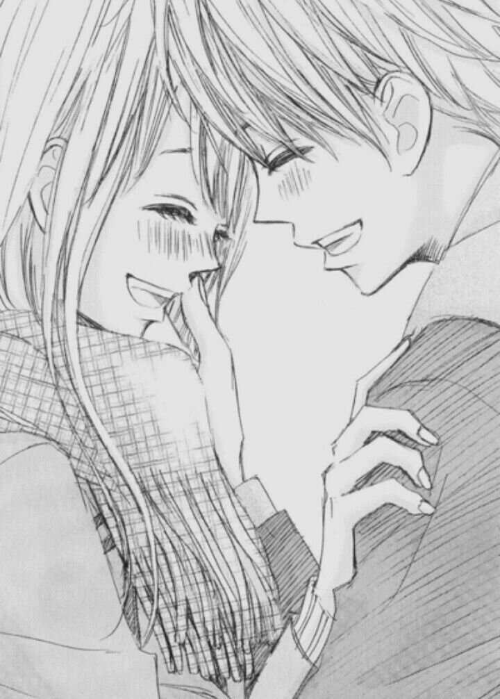 Картинки карандашом с парнем и девушкой аниме