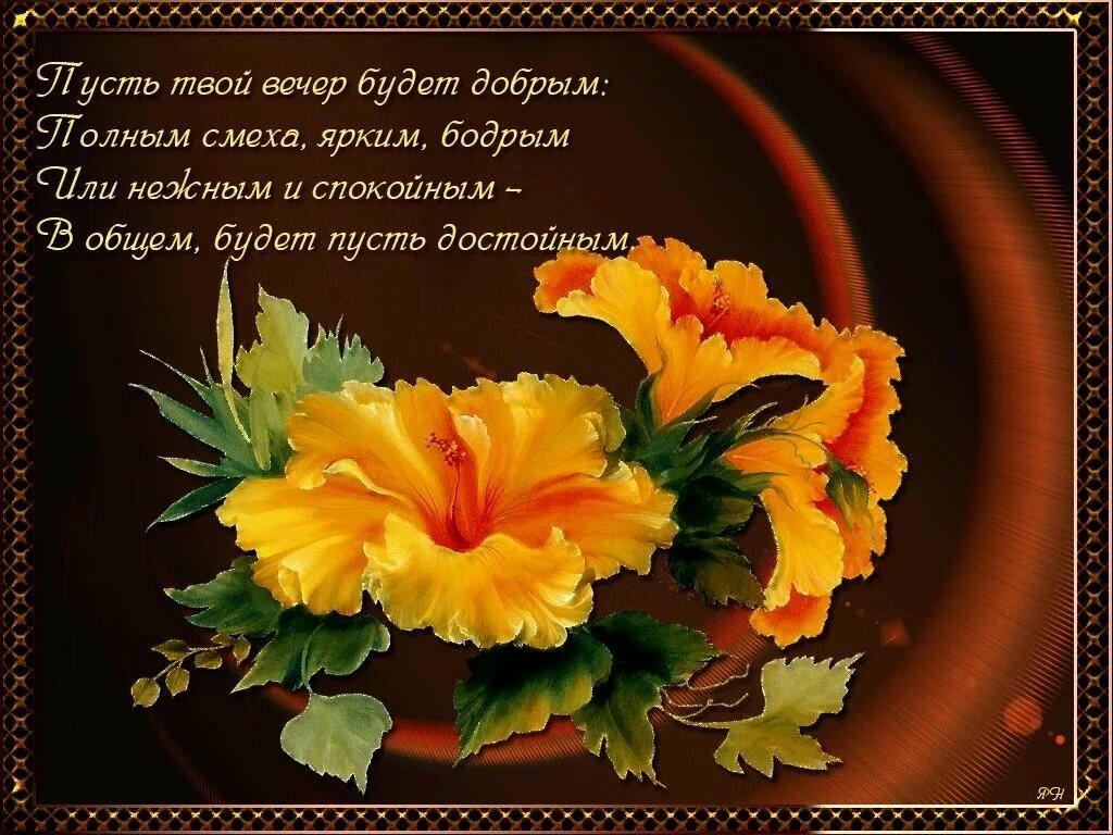 Поздравления с добрым вечером в картинках с фото и стихами красивые