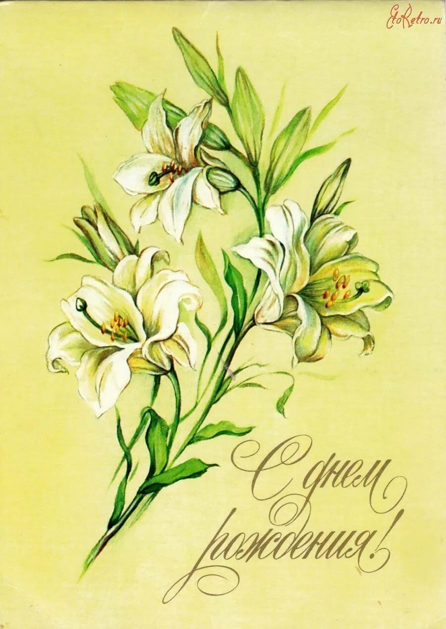 Открытки с днем рождения с цветком розмарина
