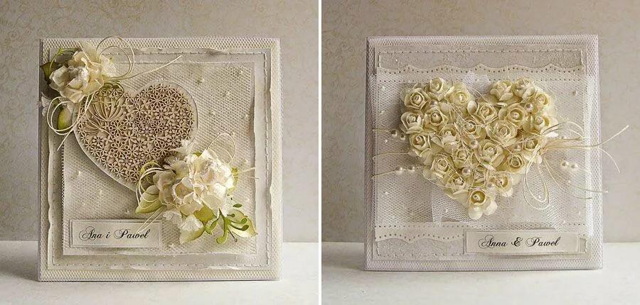 Свадебная открытка скрап с фото, можно сделать маме