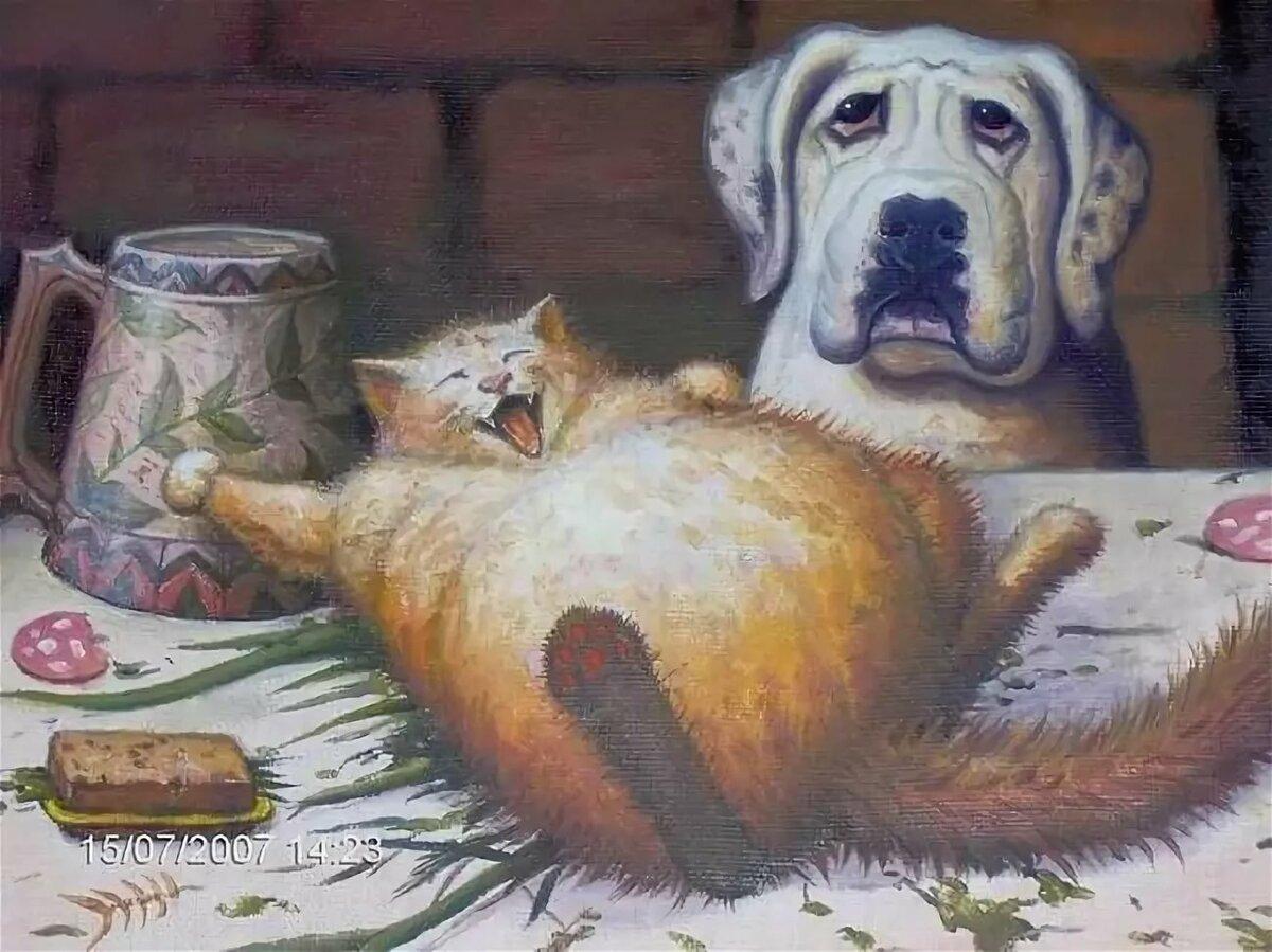 Смешно слез, смешные рисунки собак и котов