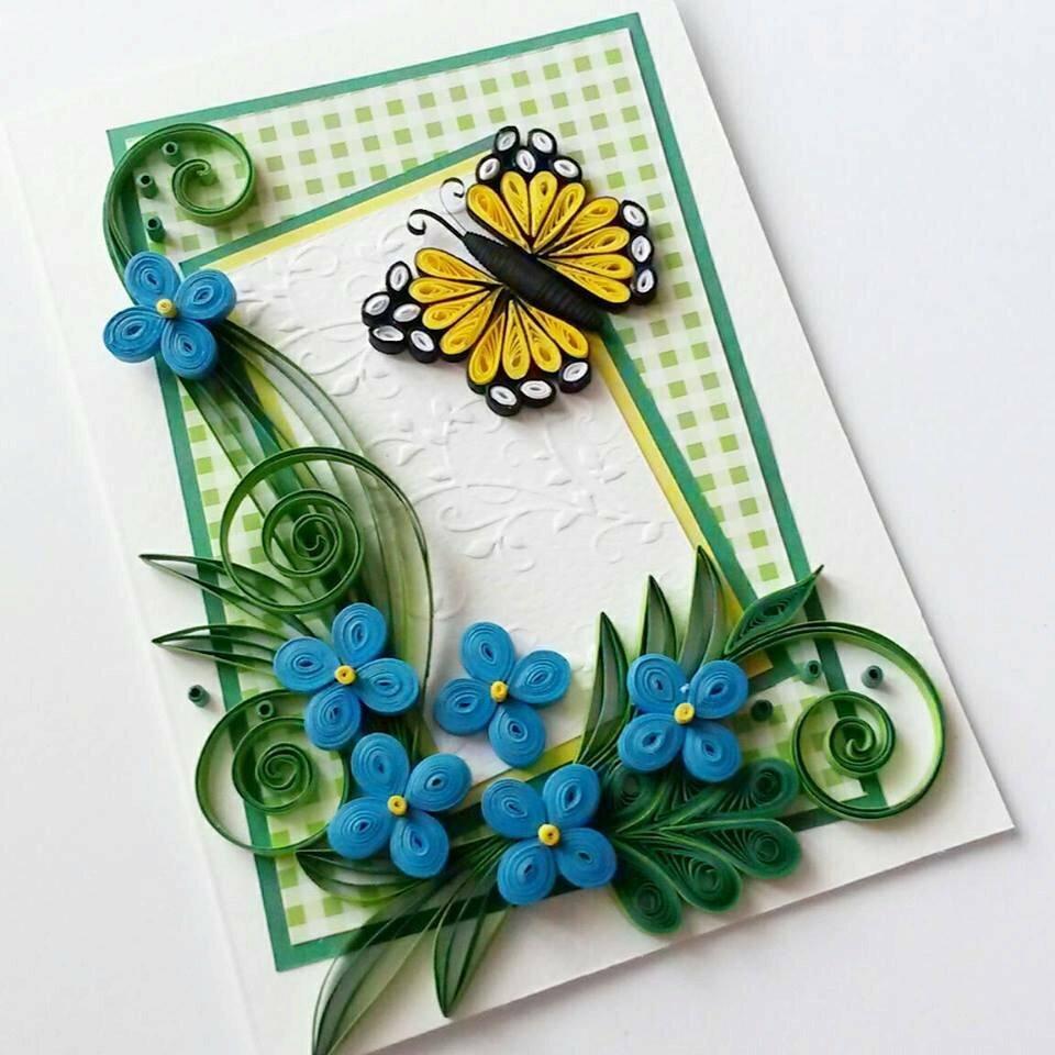 Картинки, открытки с днем рождения своими руками из бумаги квиллинг