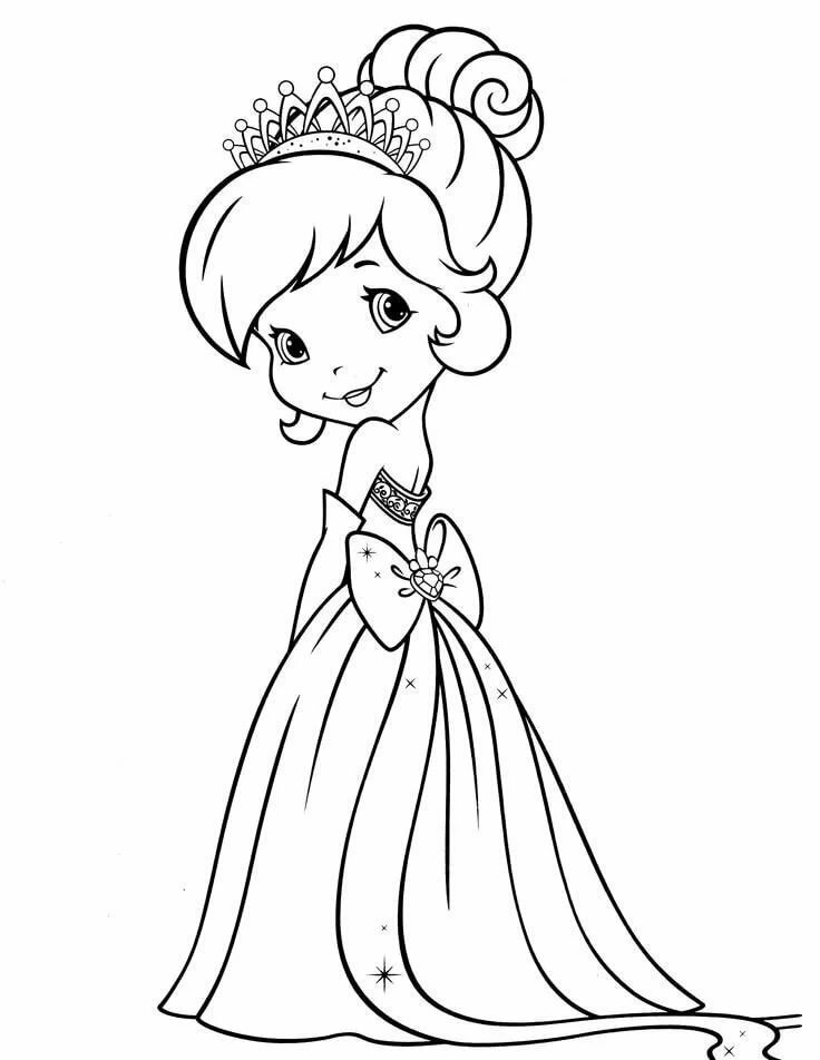 Картинки принцессы раскраски для девочек 11 лет