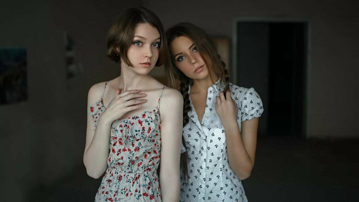 фото домашняя фотосессия две девушки - 12