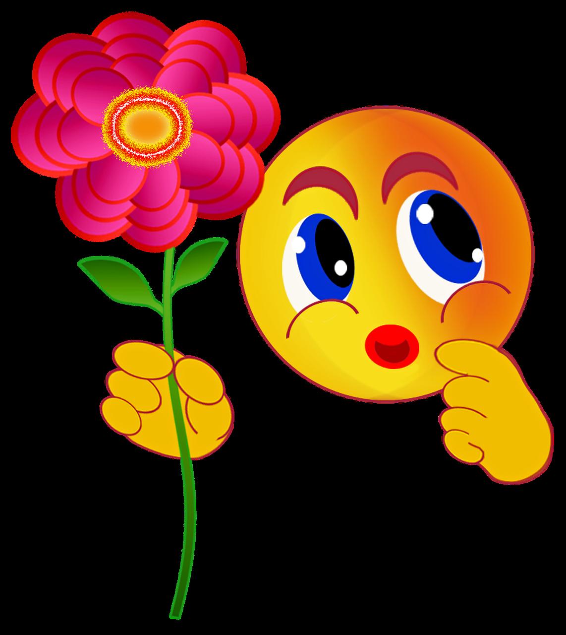 Картинки, рисунки смешные цветы