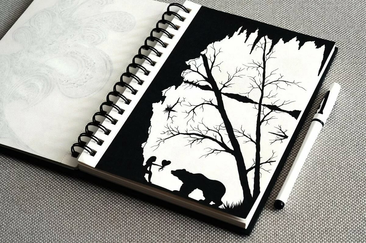Картинки, открытки черной гелевой ручкой