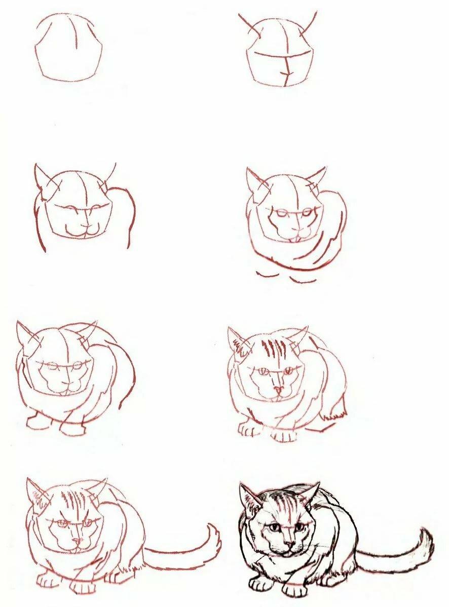 Как нарисовать картинки поэтапно карандашом легко и красиво, днем