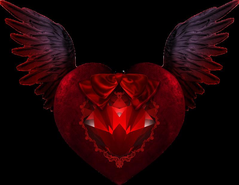 Картинка в виде сердца с крыльями