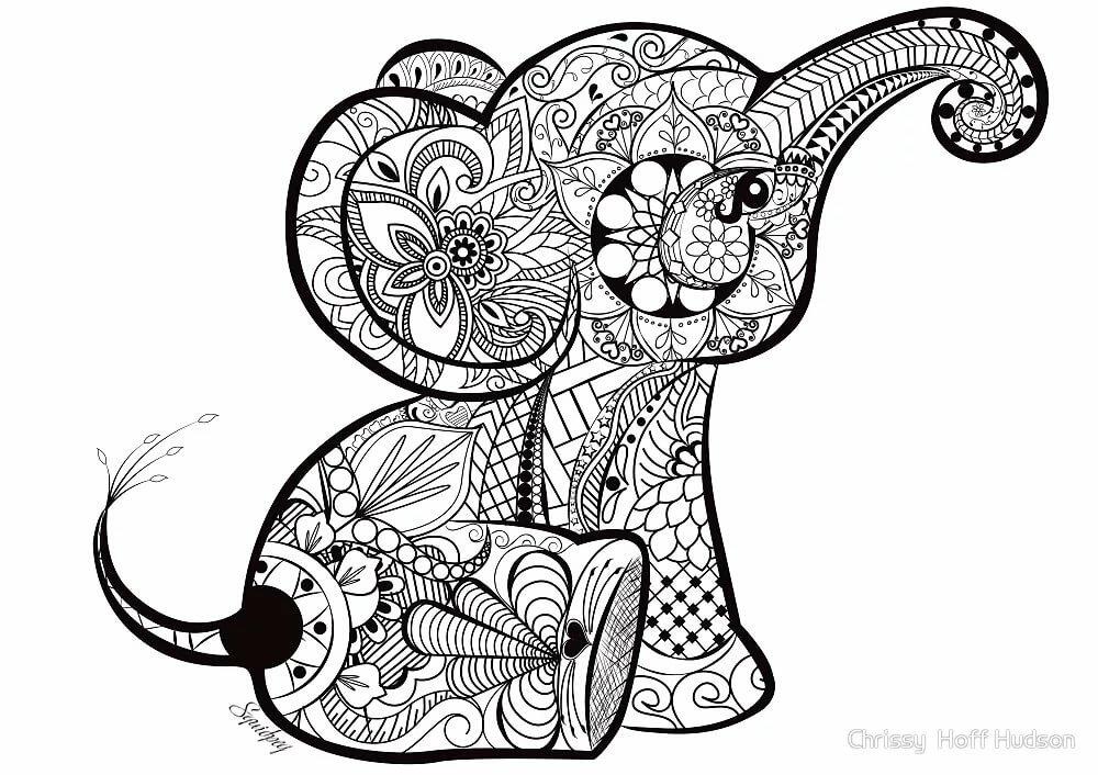 Картинки животных в стиле дудлинг