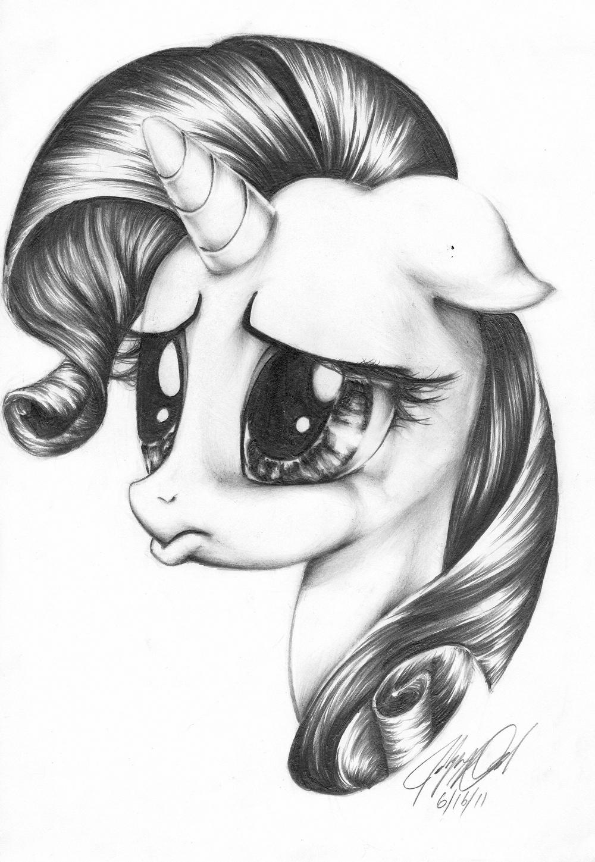 Для маленькой, картинки для срисовки крутые пони
