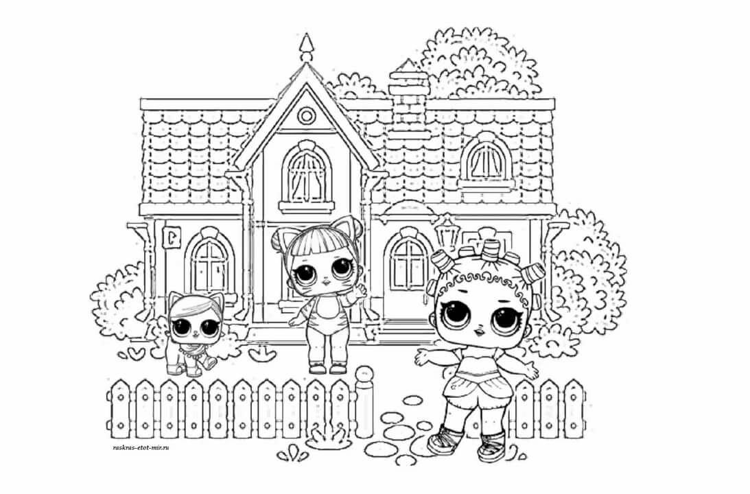 «Раскраски Кукольный домик ЛОЛ - Раскрась этот мир ...