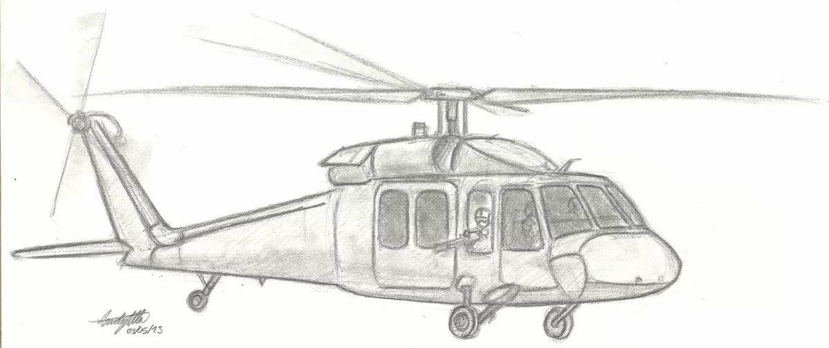рисунки вертолетов карандашом военные уже купили брюки