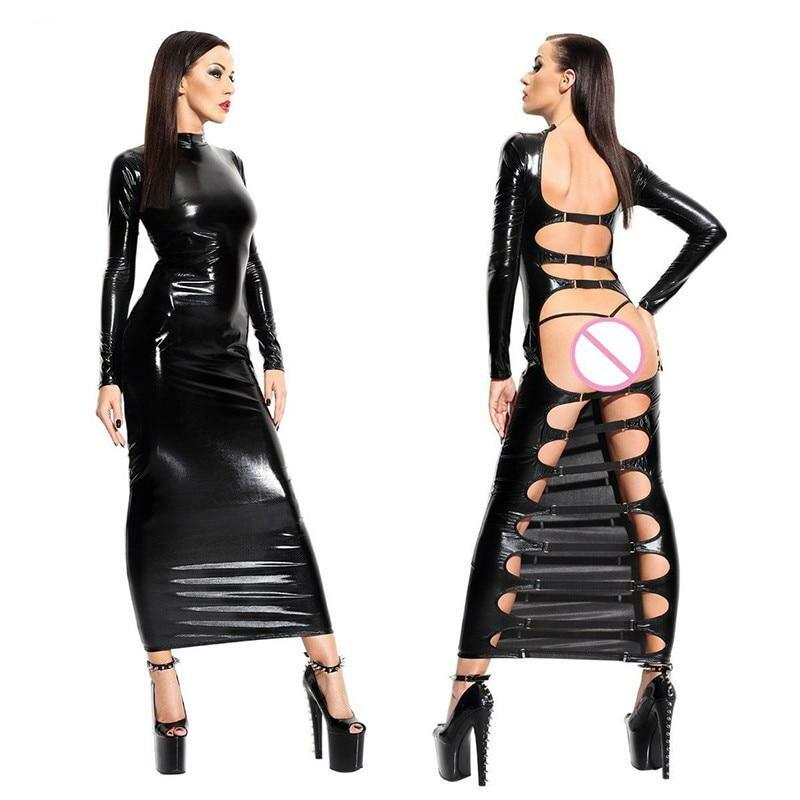 Cybergoth girls fetish clothing pattern