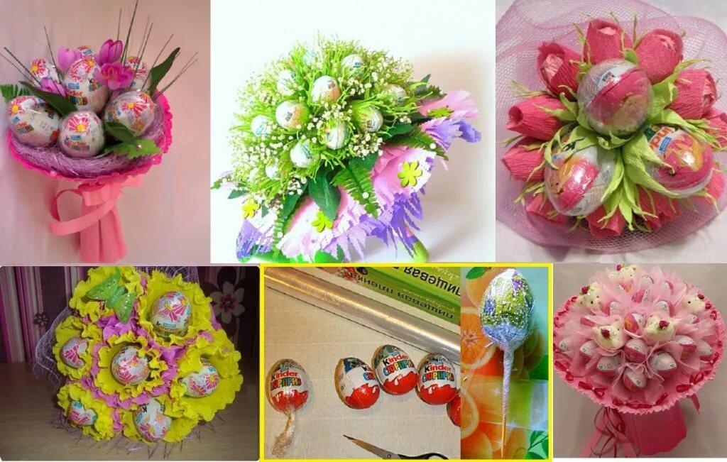 цветы из конфет своими руками пошаговое фото аллею