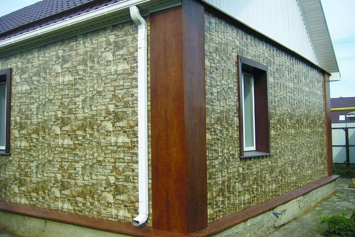 стеновой профнастил для фасада под камень