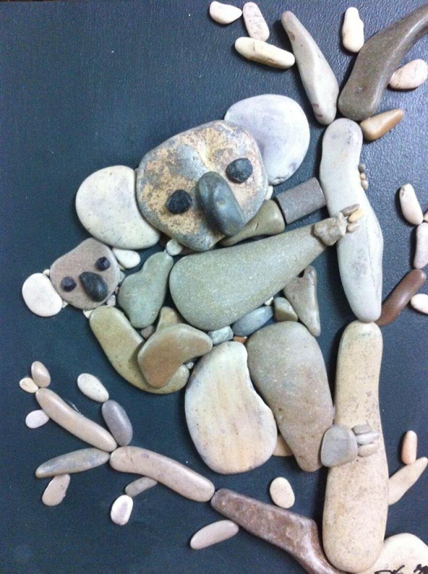 Люблю, картинки из камушек своими