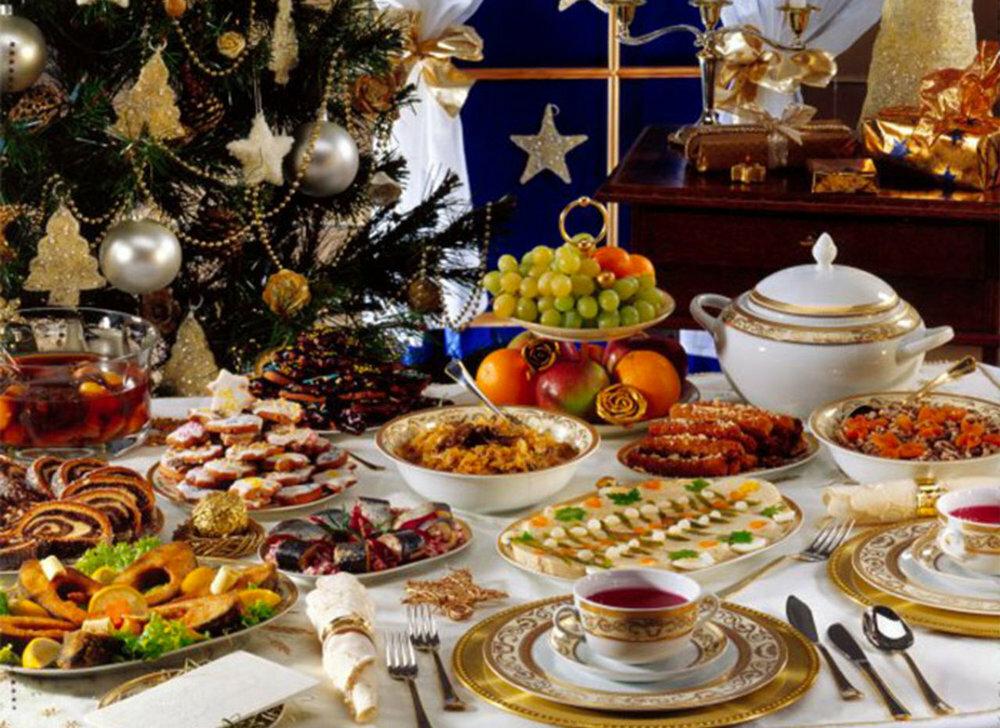 Картинки праздничный стол на новый год, цветами