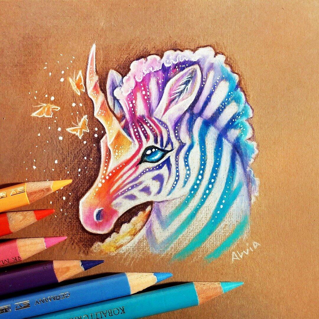 Рисунки животных сложные цветные