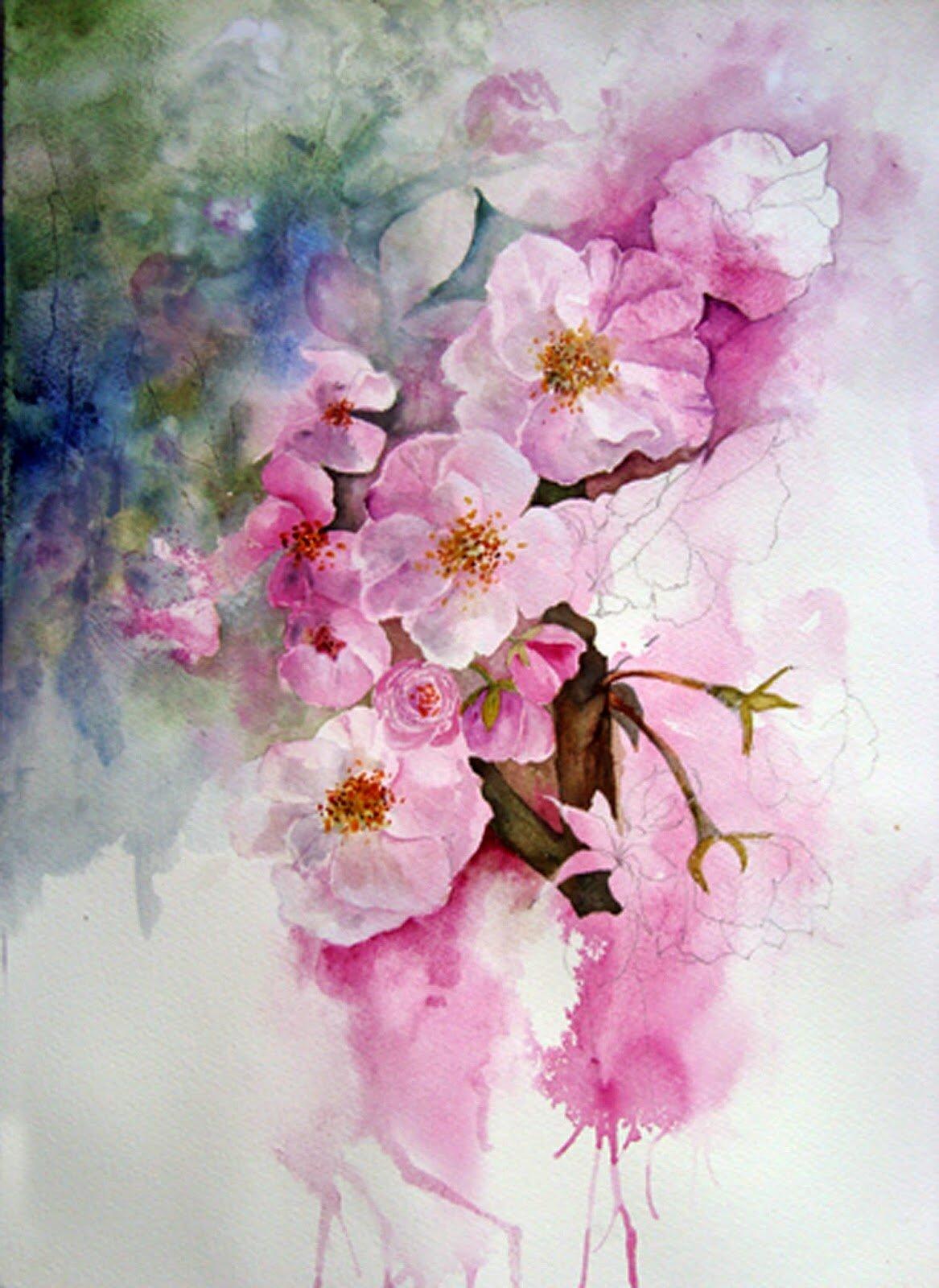 Цветы картинки в акварели