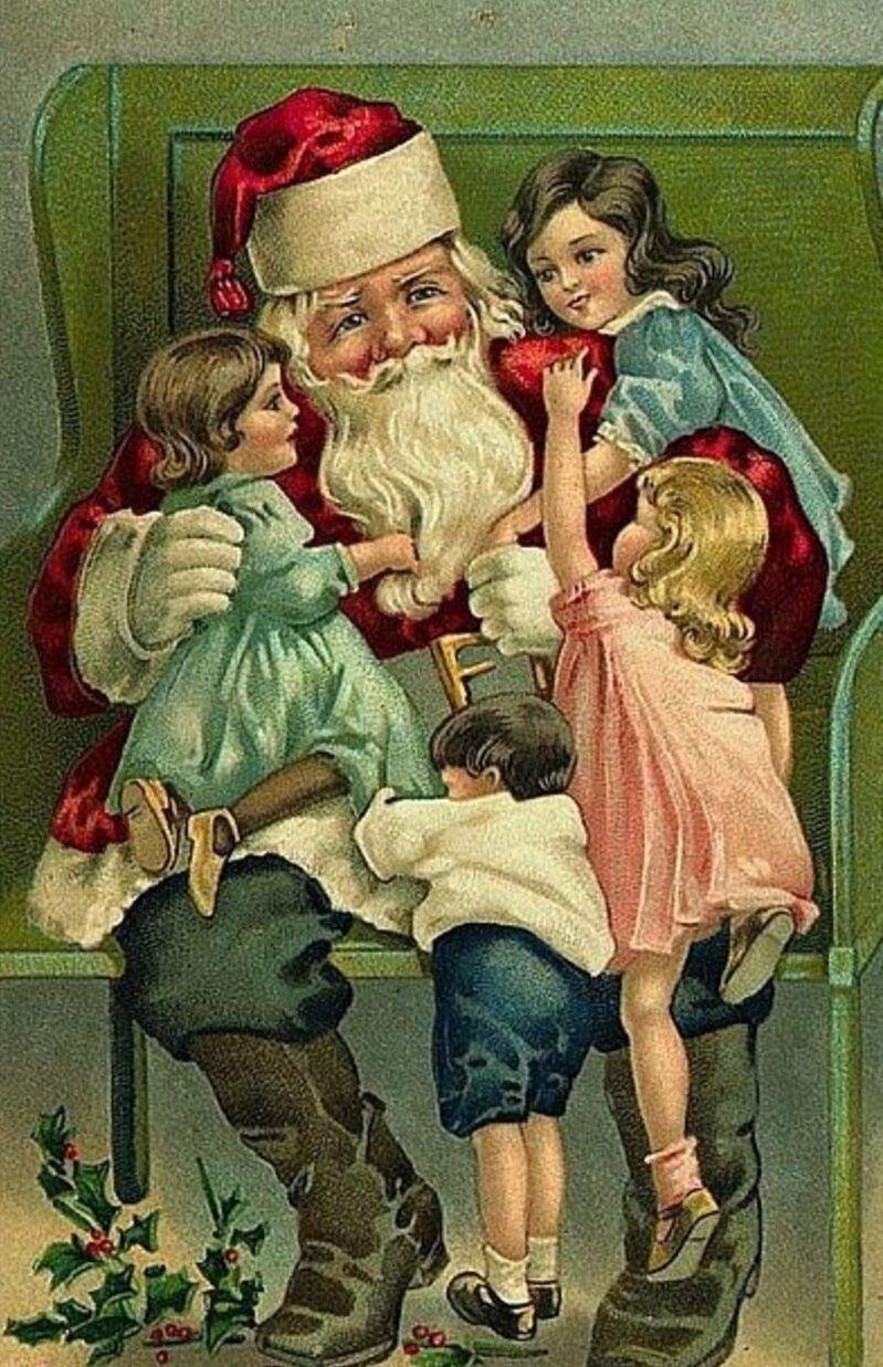 Подруге, открытки старинные новогодние и рождественские фильмы