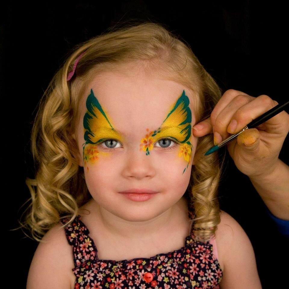 картинки нарисовать красками на лице всего его применяют