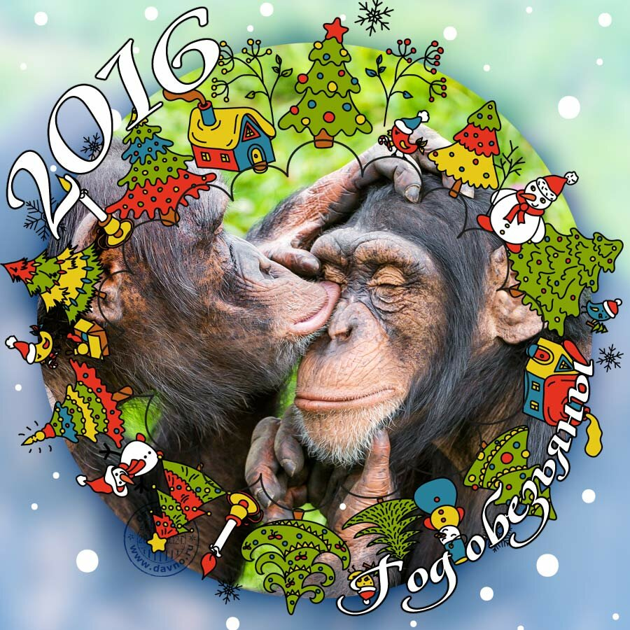 С новым годом 2016 годом открытки, газа