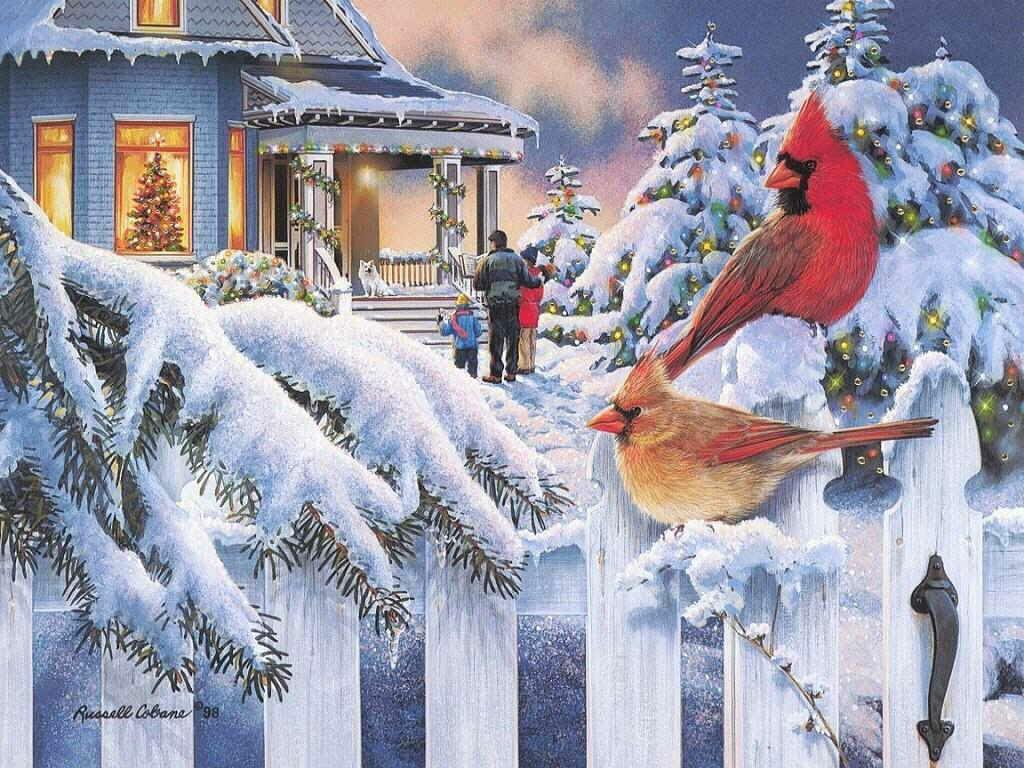 Открытки по теме зима, днем рождения