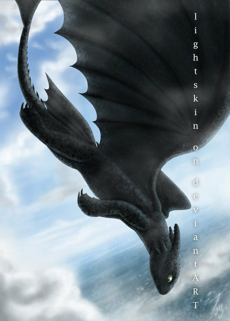 Драконы цветные картинки беззубик сверху с расправленными крыльями