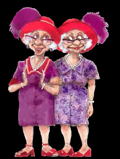 Как сделать, картинки старушек подружек прикольные