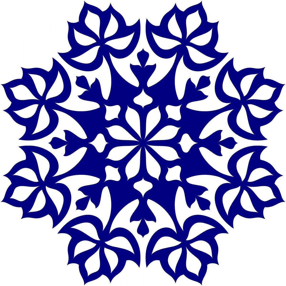 Картинки голубых снежинок для распечатки