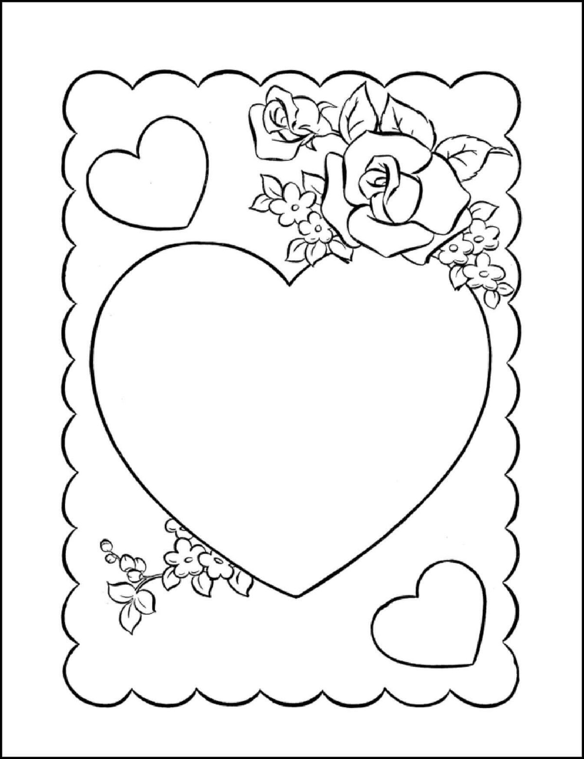 Распечатать открытку на день святого валентина