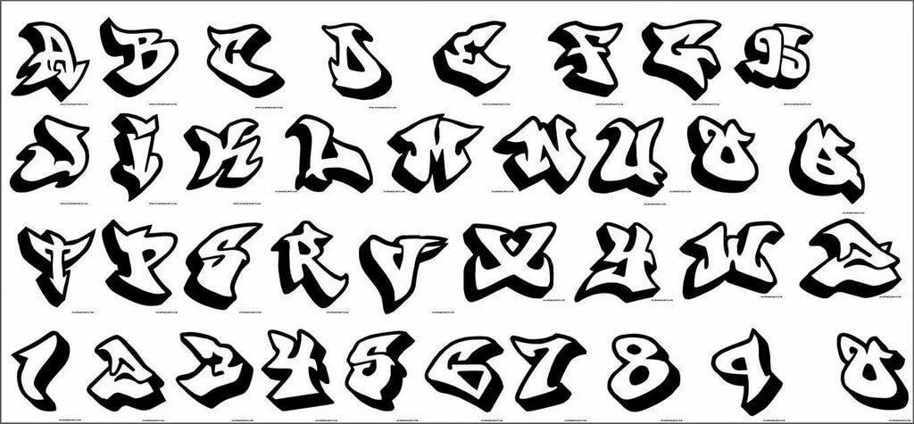 Картинки для срисовки алфавита