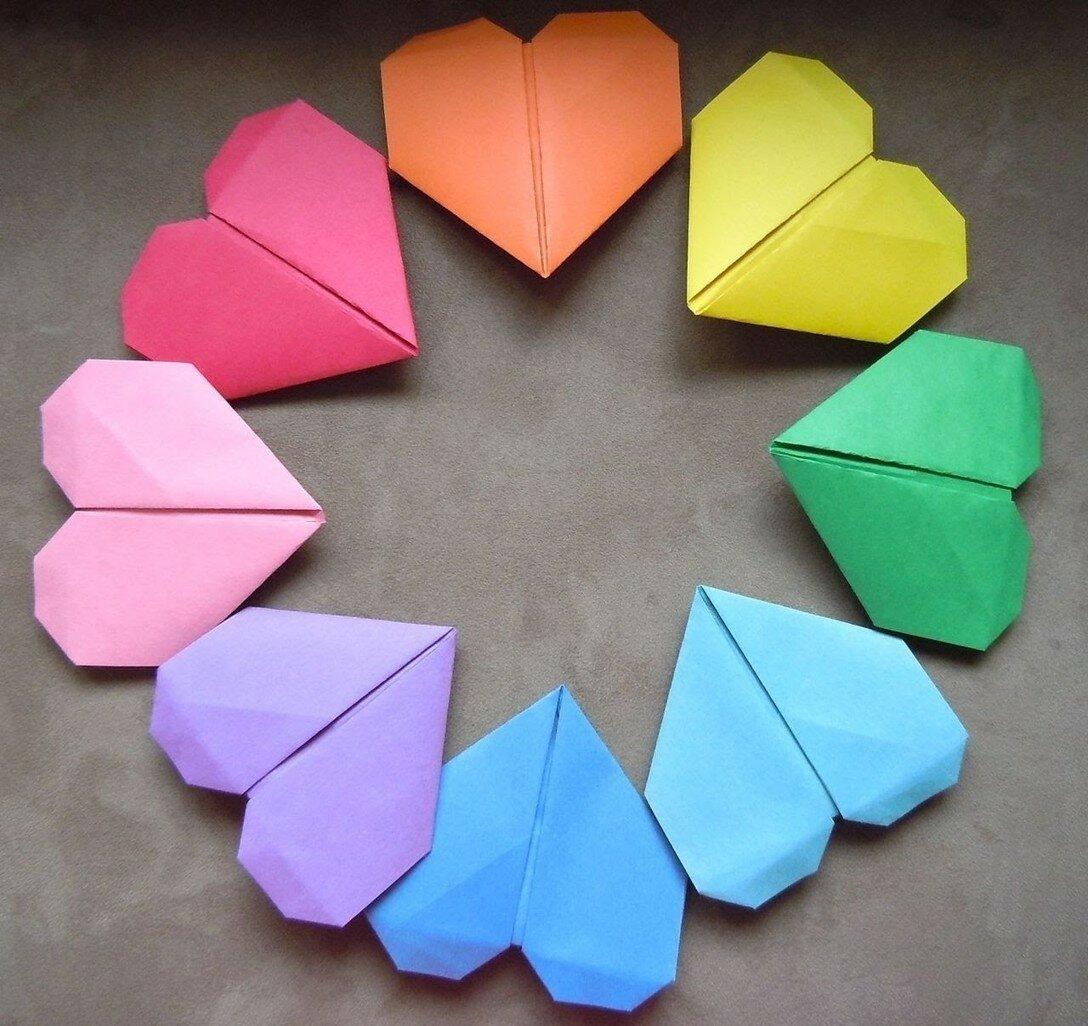 Картинки оригами сердце, кремля