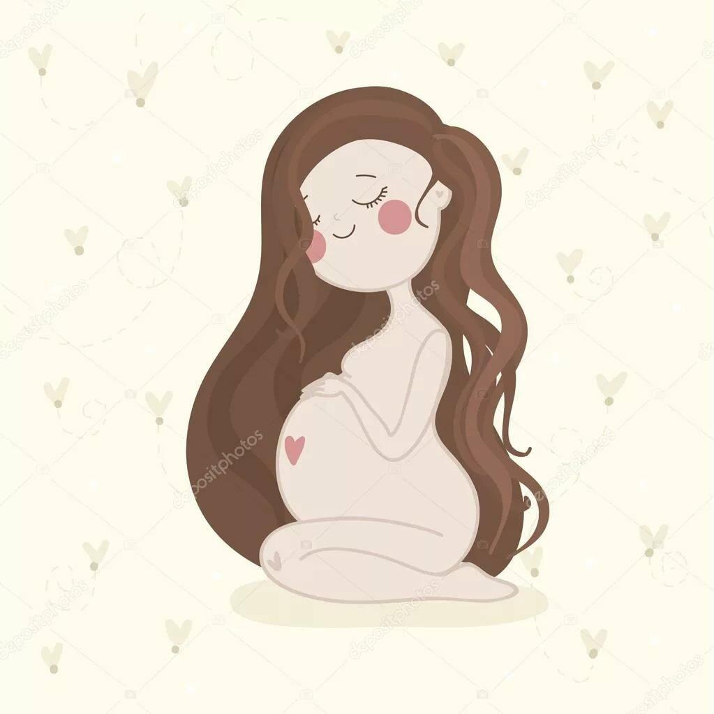 Счастливая беременность рисованные картинки