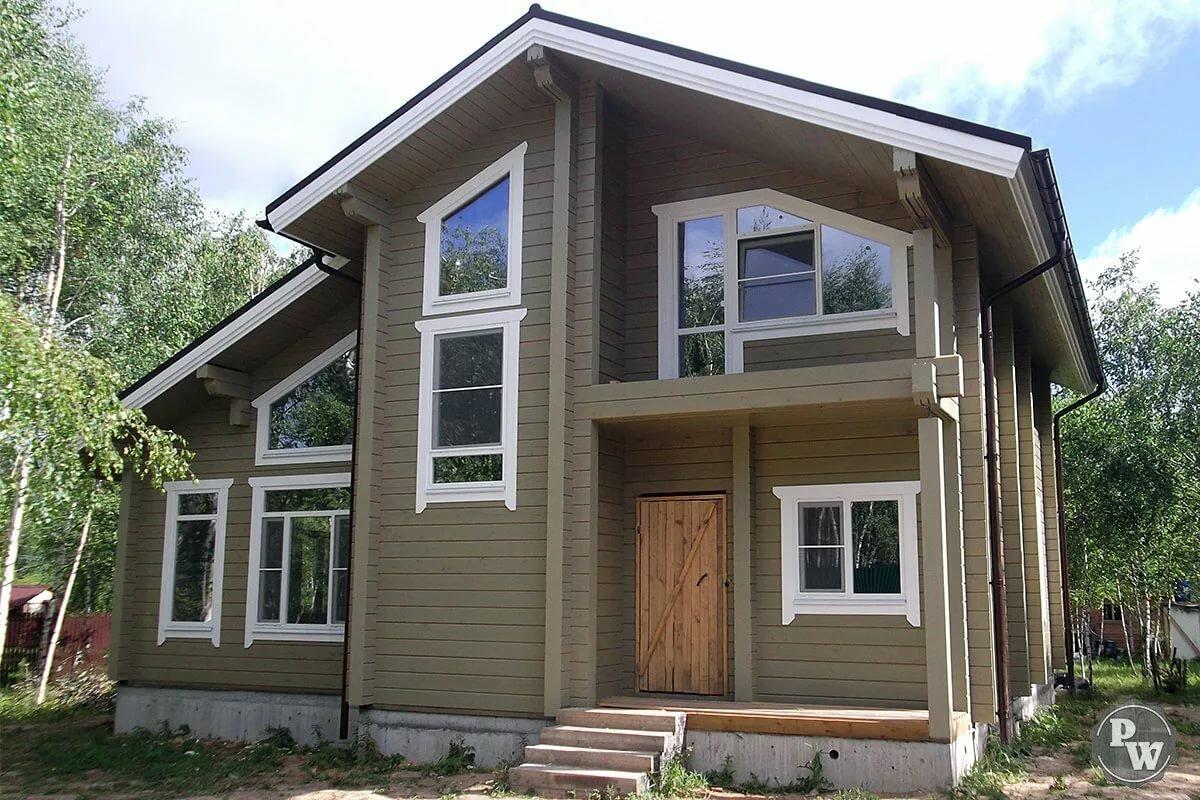 конструкция как красиво покрасить деревянный дом фото стоит