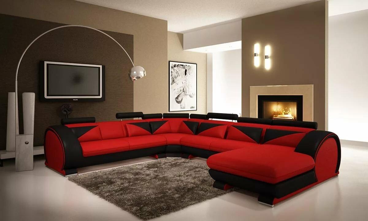 Картинки красная гостиная