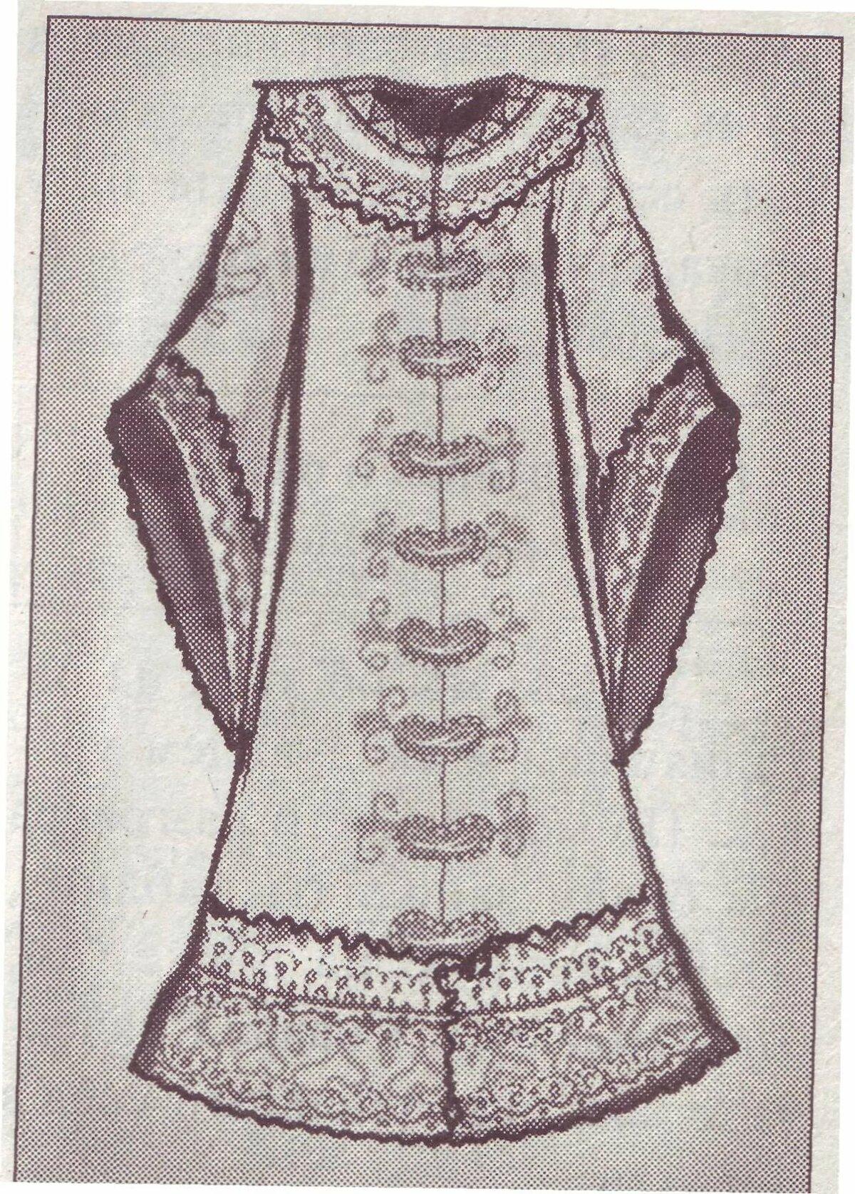 рисунки крутых костюмов с узорами классической формы вышитой