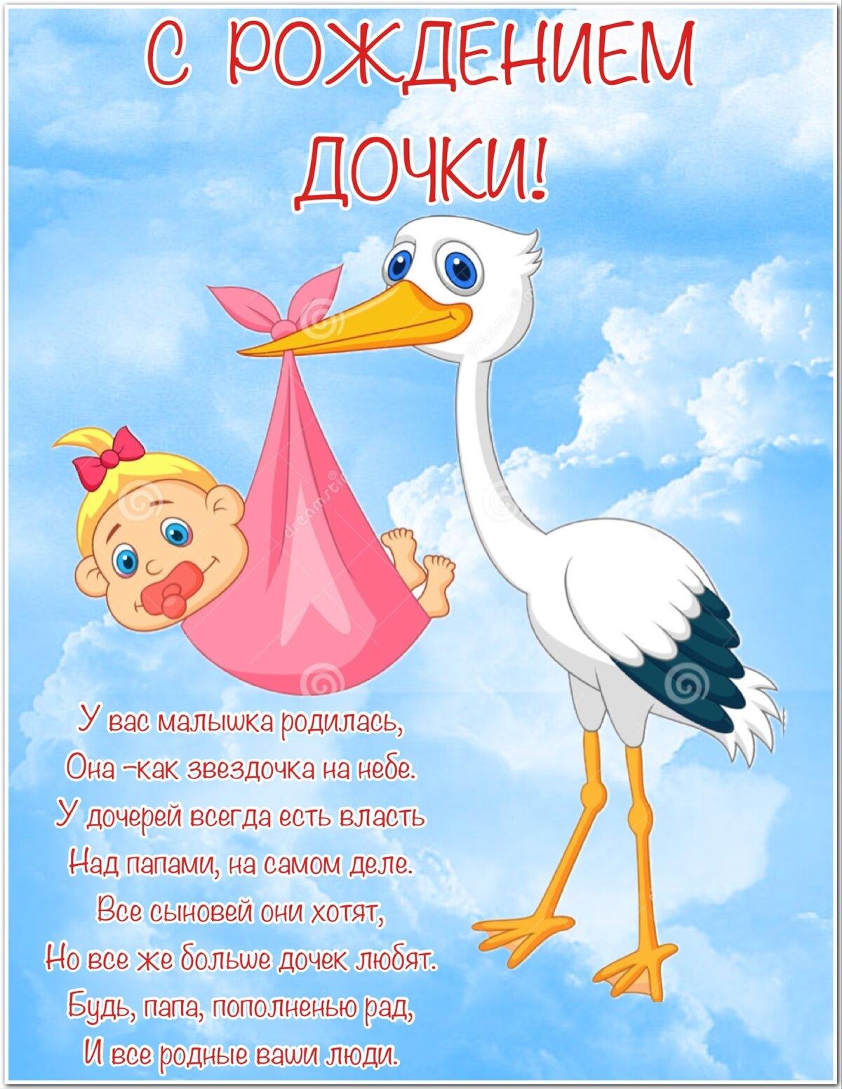 Поздравление родителей с рождением дочки в картинках