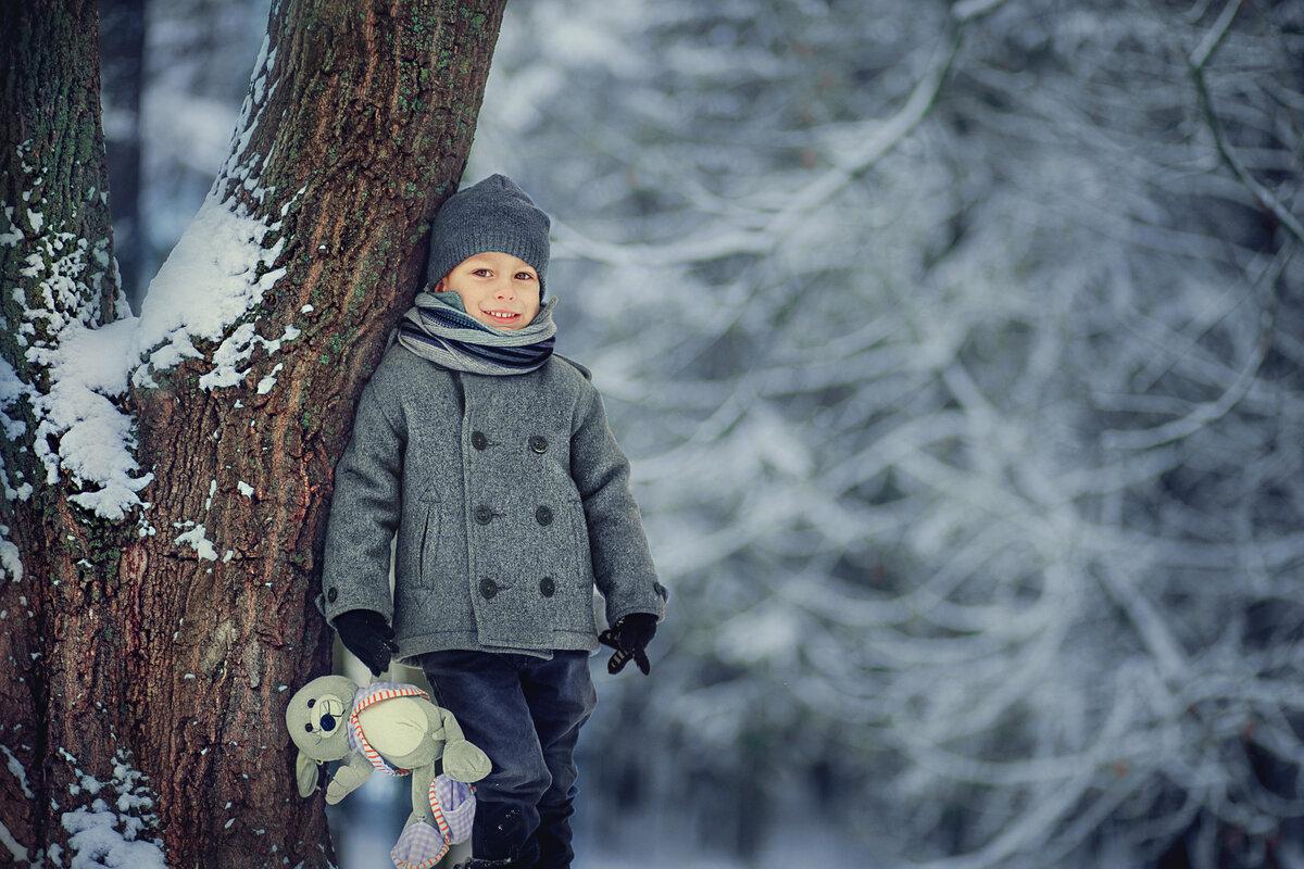 Идеи для зимнего фото с детьми ценим