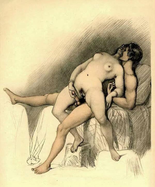 Киски пышнотелых старые секс рисунки студенты