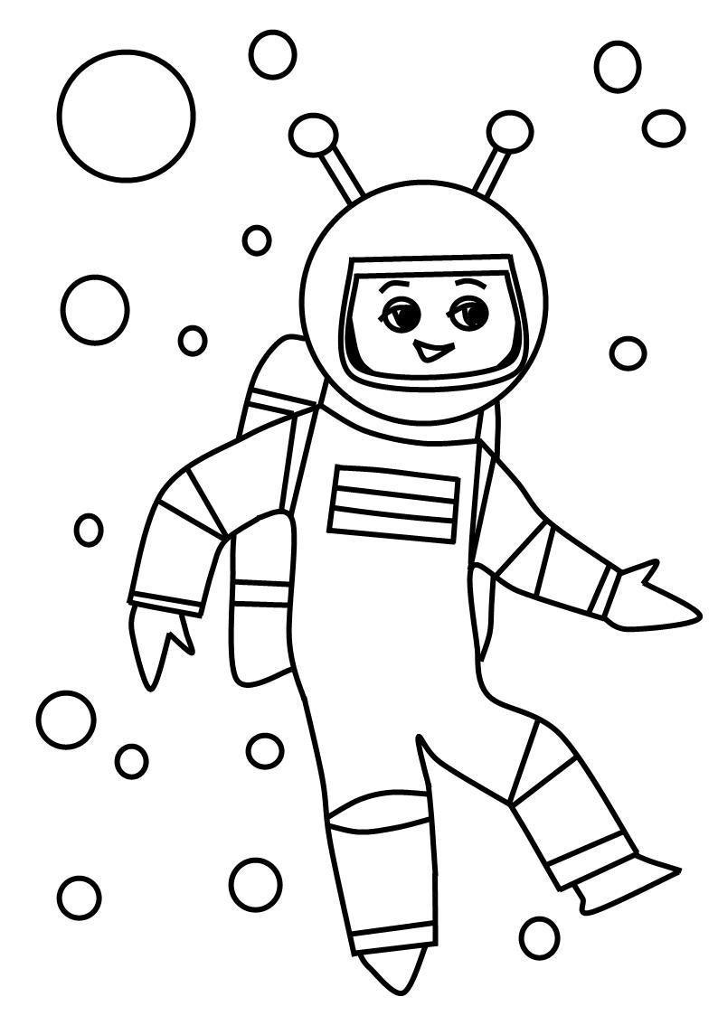 Космонавт картинки раскраски