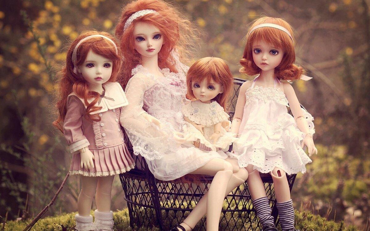 Открытки новым, картинки на тему куклы
