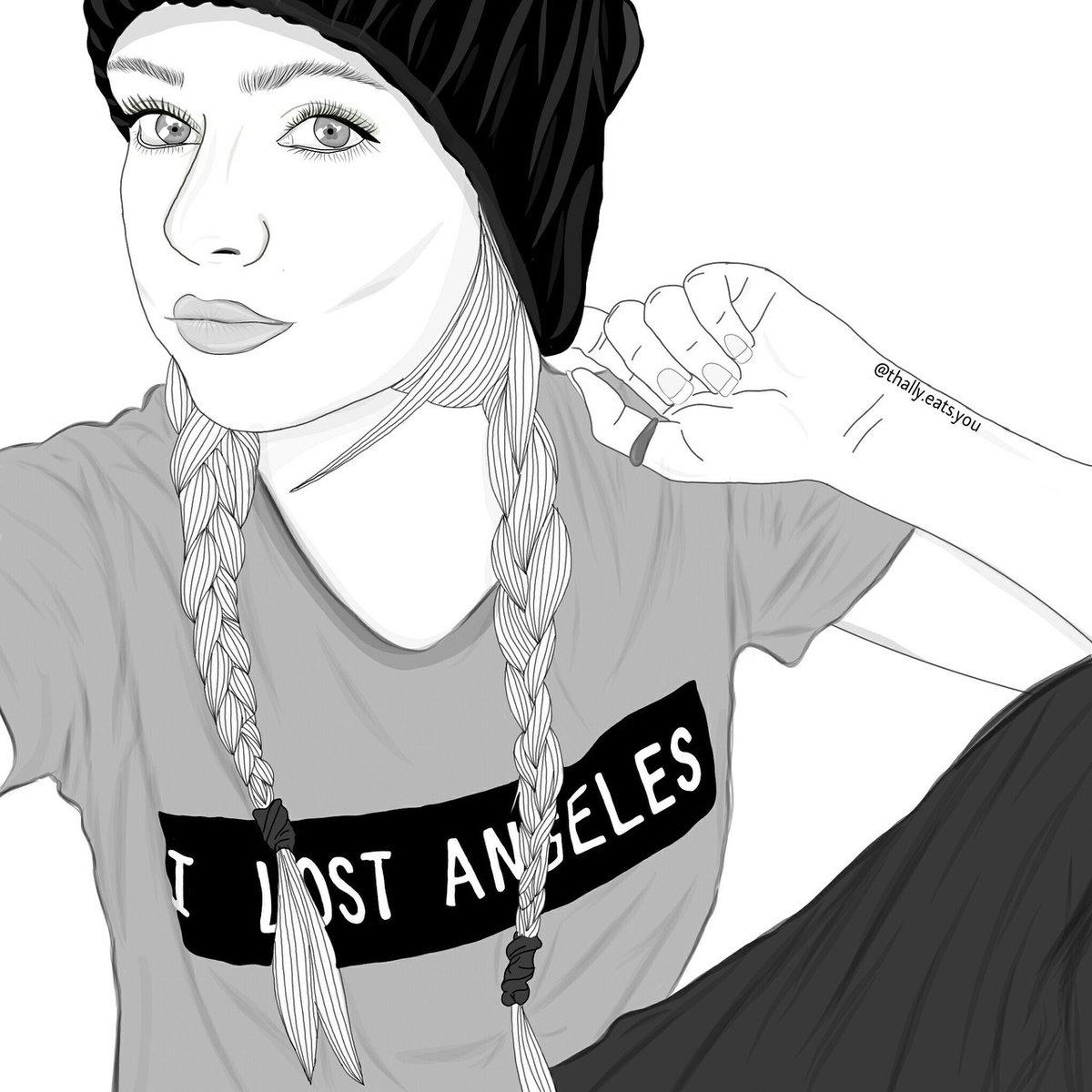 Прикольные картинки для срисовки девочки в шапке, своими руками