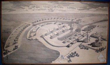 древние городища рисунок
