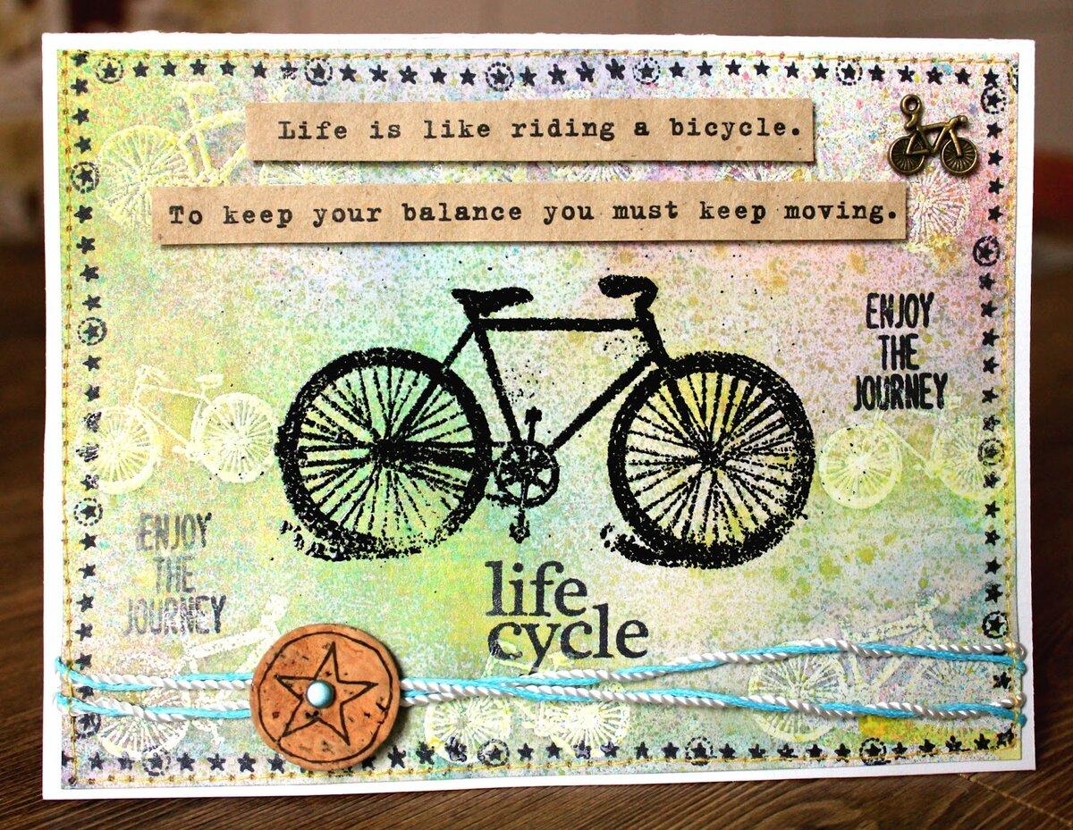 Картинки поздравления велосипедисту