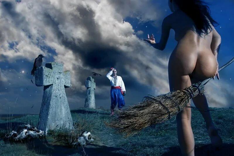 эротика ведьма на метле большие