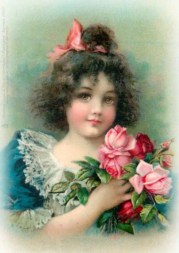 Руками, открытка розы дети