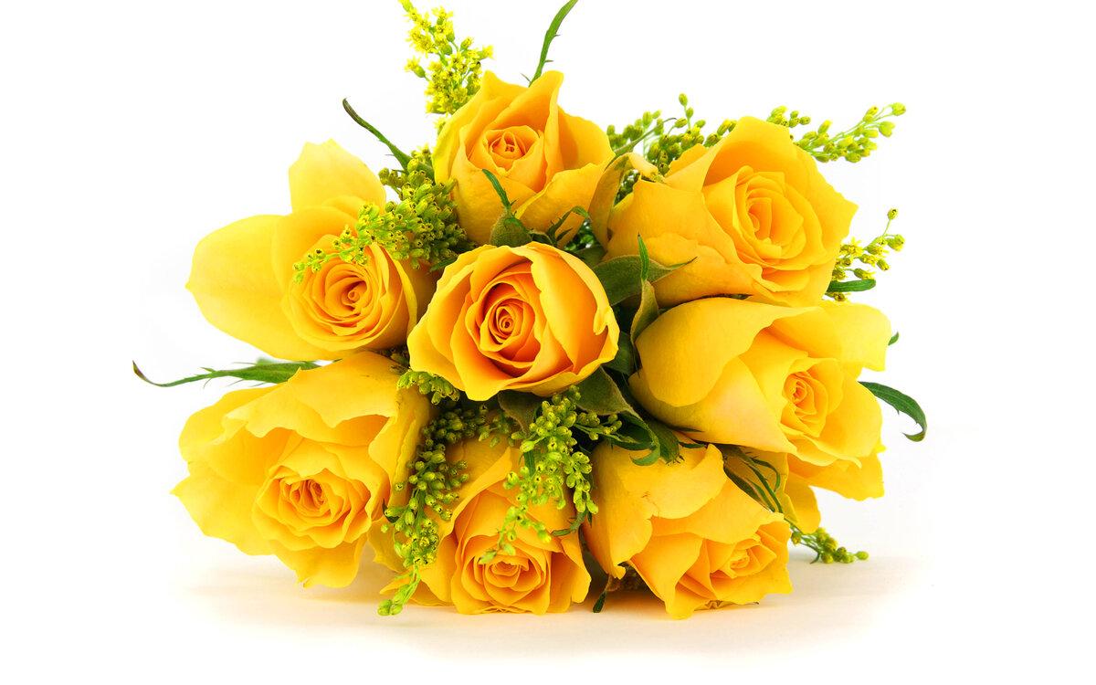 Открытки желтых цветов
